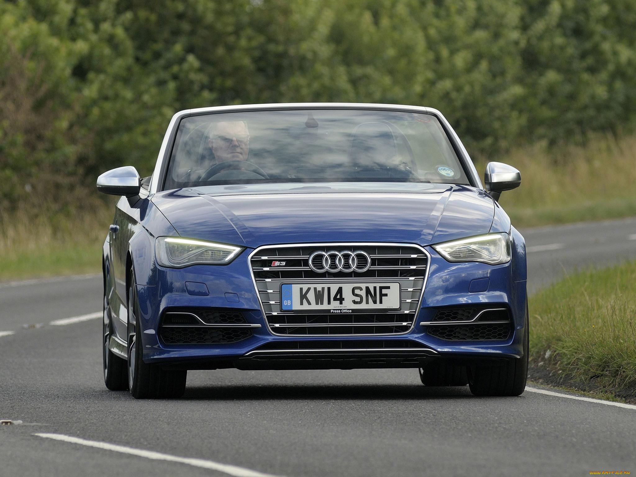 автомобили, audi, 8v, uk-spec, 2014г, синий, cabriolet, s3